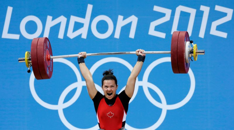 Canadian Weightlifter is Being Awarded Olympic Gold Medal from London 2012