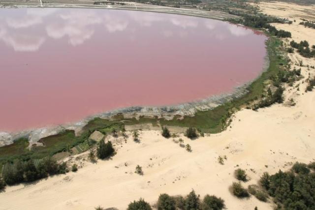 Pink Lake - Lake Retba in Africa